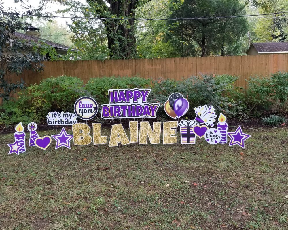 Basic HBD Flash in Purple and Gold